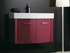 - Wall-mounted vanity unit with doors ZEUS | Vanity unit with doors - LA BOTTEGA DI MASTRO FIORE