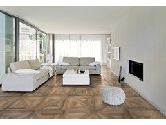 - Porcelain stoneware flooring with wood effect MANSION - Ceramiche Refin