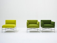 - Upholstered fabric armchair with armrests CHILL-OUT   Armchair with armrests - Tacchini Italia Forniture