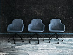 - Trestle-based chair with casters DOODLE   Trestle-based chair - Tacchini Italia Forniture