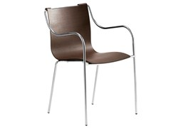 - Oak chair with armrests ZELIG | Chair with armrests - Midj