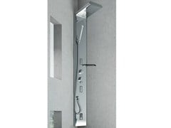 - Wall-mounted steel shower panel QUARANTACINQUE PLUS - GRUPPO GEROMIN
