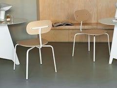 - Stackable wooden chair T–CHAIR | Stackable chair - Tacchini Italia Forniture