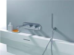 - Wall-mounted bathtub mixer with hand shower UNI/C | Bathtub mixer - CRISTINA Rubinetterie