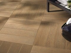 - Porcelain stoneware outdoor floor tiles with wood effect DOGHE DI QUERCIA | Outdoor floor tiles - Panaria Ceramica