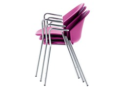 - Stackable polypropylene chair with armrests CITY | Chair with armrests - Midj