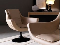 - Swivel armchair with armrests BRAVA - Esedra by Prospettive