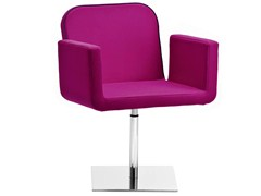 - Swivel upholstered chair with armrests AXIAL | Swivel chair - Midj