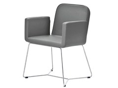 - Sled base upholstered chair with armrests AXIAL | Sled base chair - Midj