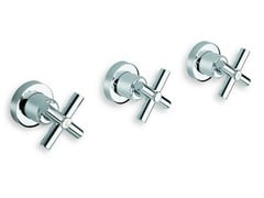 - 3 hole wall-mounted chrome-plated bathtub tap EXCLUSIVE | Bathtub tap - CRISTINA Rubinetterie