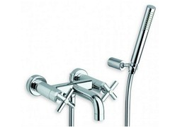 - Wall-mounted bathtub tap with hand shower EXCLUSIVE | Bathtub tap with hand shower - CRISTINA Rubinetterie