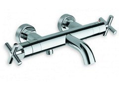 - Wall-mounted chrome-plated thermostatic bathtub tap EXCLUSIVE | Thermostatic bathtub tap - CRISTINA Rubinetterie