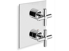 - Chrome-plated thermostatic shower mixer EXCLUSIVE | Single handle thermostatic shower mixer - CRISTINA Rubinetterie
