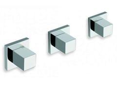 - 3 hole wall-mounted chrome-plated bathtub tap QUADRI | 3 hole bathtub tap - CRISTINA Rubinetterie