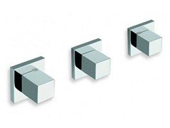 - 3 hole wall-mounted chrome-plated bathtub tap QUADRI | Bathtub tap - CRISTINA Rubinetterie