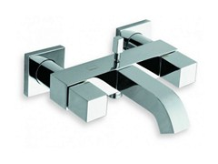 - Wall-mounted chrome-plated bathtub tap QUADRI | Chrome-plated bathtub tap - CRISTINA Rubinetterie
