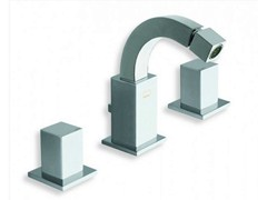- 3 hole chrome-plated countertop bidet tap QUADRI | Bidet tap - CRISTINA Rubinetterie