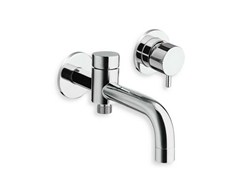 - 2 hole wall-mounted chrome-plated bathtub mixer TRICOLORE VERDE | 2 hole bathtub mixer - CRISTINA Rubinetterie