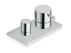 - Chrome-plated bathtub mixer with diverter with plate TRICOLORE VERDE | Bathtub mixer - CRISTINA Rubinetterie