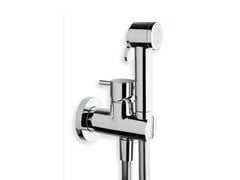 - Wall-mounted bidet mixer with spray TRICOLORE VERDE | Bidet mixer with spray - CRISTINA Rubinetterie