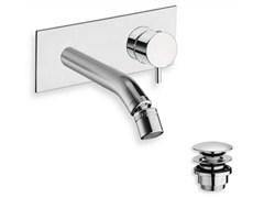 - Wall-mounted chrome-plated bidet mixer TRICOLORE VERDE | Wall-mounted bidet mixer - CRISTINA Rubinetterie