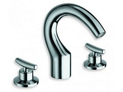 - 3 hole chrome-plated countertop washbasin tap SELTZ | Washbasin tap - CRISTINA Rubinetterie
