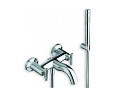 - 3 hole wall-mounted bathtub tap with hand shower SELTZ | Bathtub tap with hand shower - CRISTINA Rubinetterie