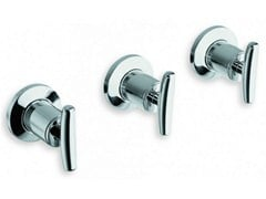- 3 hole wall-mounted chrome-plated bathtub tap SELTZ | Chrome-plated bathtub tap - CRISTINA Rubinetterie