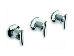 - 3 hole wall-mounted chrome-plated bathtub tap SELTZ | Wall-mounted bathtub tap - CRISTINA Rubinetterie