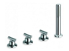 - 4 hole bathtub tap with diverter with hand shower SELTZ | Bathtub tap with diverter - CRISTINA Rubinetterie