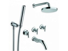 - Chrome-plated shower tap with hand shower with overhead shower SELTZ | Shower tap with overhead shower - CRISTINA Rubinetterie