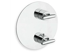 - Chrome-plated thermostatic shower tap with plate SELTZ | Thermostatic shower tap - CRISTINA Rubinetterie