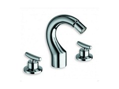 - 3 hole chrome-plated countertop bidet tap SELTZ | Bidet tap - CRISTINA Rubinetterie