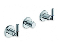 - 3 hole wall-mounted chrome-plated bathtub tap PICCHE ELITE | Wall-mounted bathtub tap - CRISTINA Rubinetterie