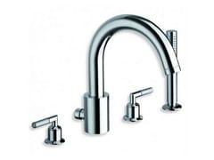 - 4 hole chrome-plated bathtub set with hand shower PICCHE ELITE | Bathtub set - CRISTINA Rubinetterie