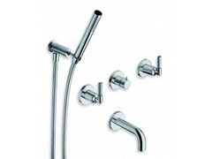 - 5 hole wall-mounted bathtub tap with hand shower PICCHE ELITE | 5 hole bathtub tap - CRISTINA Rubinetterie