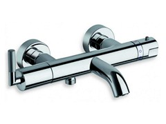 - Wall-mounted chrome-plated thermostatic bathtub tap PICCHE ELITE | Thermostatic bathtub tap - CRISTINA Rubinetterie