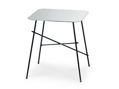- Square stainless steel coffee table WALTER | Square coffee table - Midj