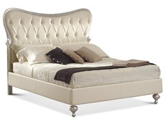 - Upholstered double bed with high headboard HERMES | Bed with high headboard - Cantori