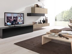 - Sectional TV wall system E45 SYSTEM - Euromobil