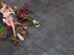 - Ceramic slate pantile ARDESIA CERAMICA 45X45 LOSA - ARDESIE CERAMICHE