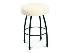 - Low upholstered iron stool ALADINO | Stool - Cantori