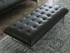- Upholstered leather bench EDWARD | Leather bench - Poliform
