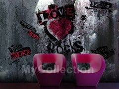 Writing wallpaper LOVE ROCKS - MyCollection.it