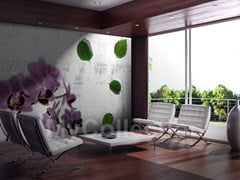 Wall-effect wallpaper with floral pattern MAYA - MyCollection.it