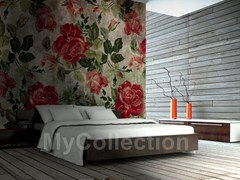 Wallpaper with floral pattern ROSES - MyCollection.it