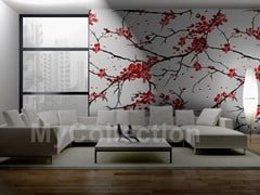 Wallpaper with floral pattern SAKURA - MyCollection.it