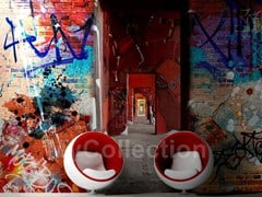 Wall-effect panoramic writing wallpaper MURALES - MyCollection.it