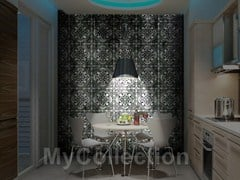 Motif stone-effect wallpaper BLACK MAJOLICA - MyCollection.it