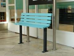 - Steel Bench with back KAJEN MINI - Nola Industrier